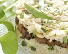 Recette timbale de riz au foie de volaille