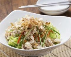 Recette salade chinoise au crabe-crevettes à la menthe fraîche