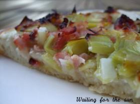 Pizza blanche aux poireaux pour 8 personnes