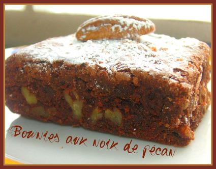 Recette de brownies aux noix de pécan