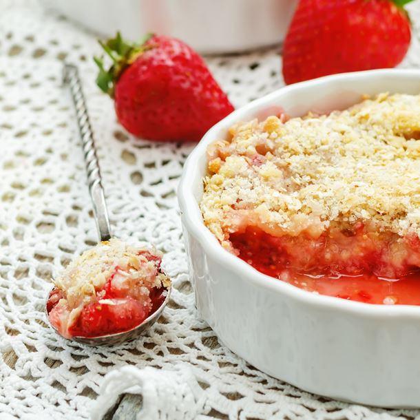 Recette tarte aux fraises façon crumble