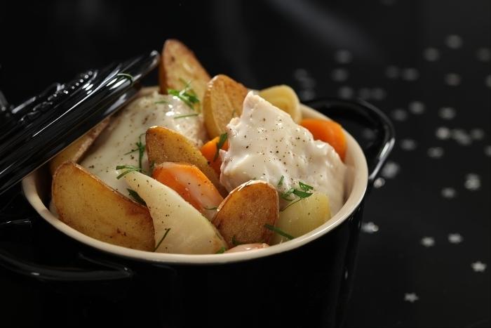 Recette de blanquette de lapin aux pommes de terre et petits légumes
