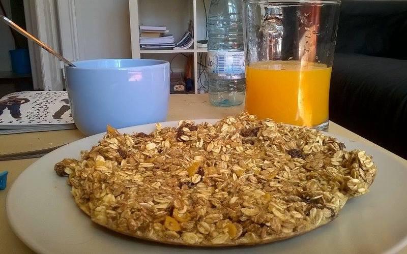 Recette omelette aux céréales et au miel économique et express ...