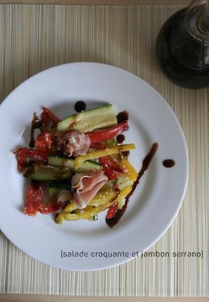 Recette de salade croquante et jambon serrano