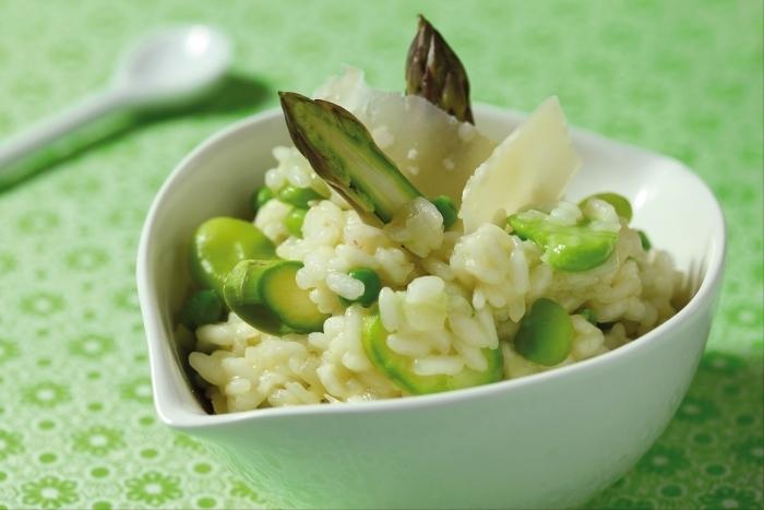 Recette de risotto végétarien primavera, bière blanche et ...