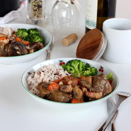 Recette de bœuf bourguignon au vin blanc