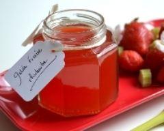 Recette gelée de fraises et rhubarbe