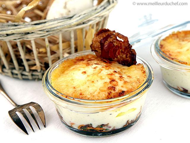 Cocotte d'œuf d'oie gratiné  la recette illustrée  meilleurduchef.com