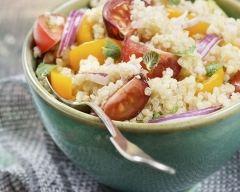 Recette quinoa aux courgettes, tomates et basilic