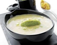 Recette soupe glacée de maïs aux saveurs guacamole