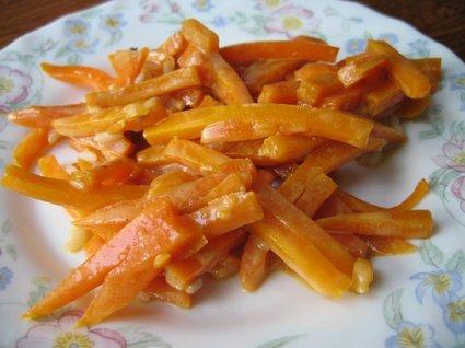 Recette de bâtonnets de carottes au miel