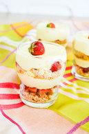 Recette de verrines fraises, mascarpone, palets breton