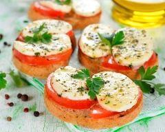 Recette toasts tomates mozzarella