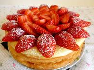 Recette de gâteau au fromage blanc et aux fraises sans gluten