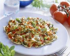 Recette raviolis aux herbes et à la tomate