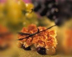 Recette crumble aux deux raisins à la vanille