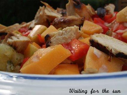 Recette de salade colorée mangue et poulet