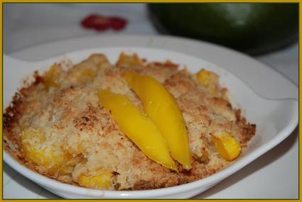 Recette de crumble à la mangue aux épices et noix de coco