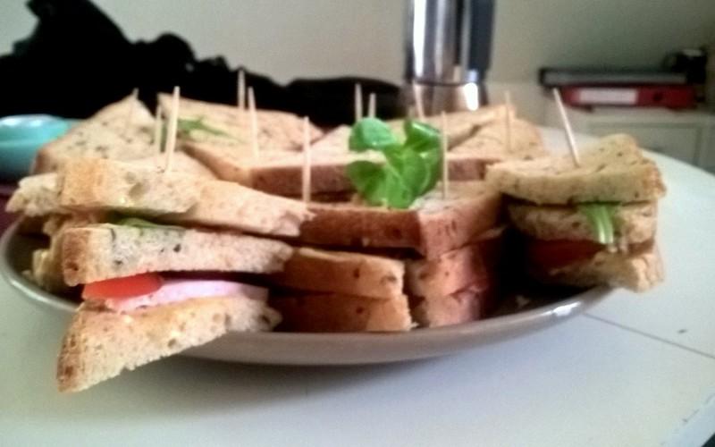 Recette mini-sandwiches économique et rapide > cuisine étudiant