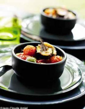Tian de légumes aux olives et à la feta pour 4 personnes