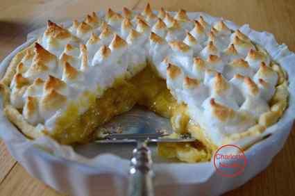 Recette de tarte à la rhubarbe meringuée sans gluten et sans lait ...