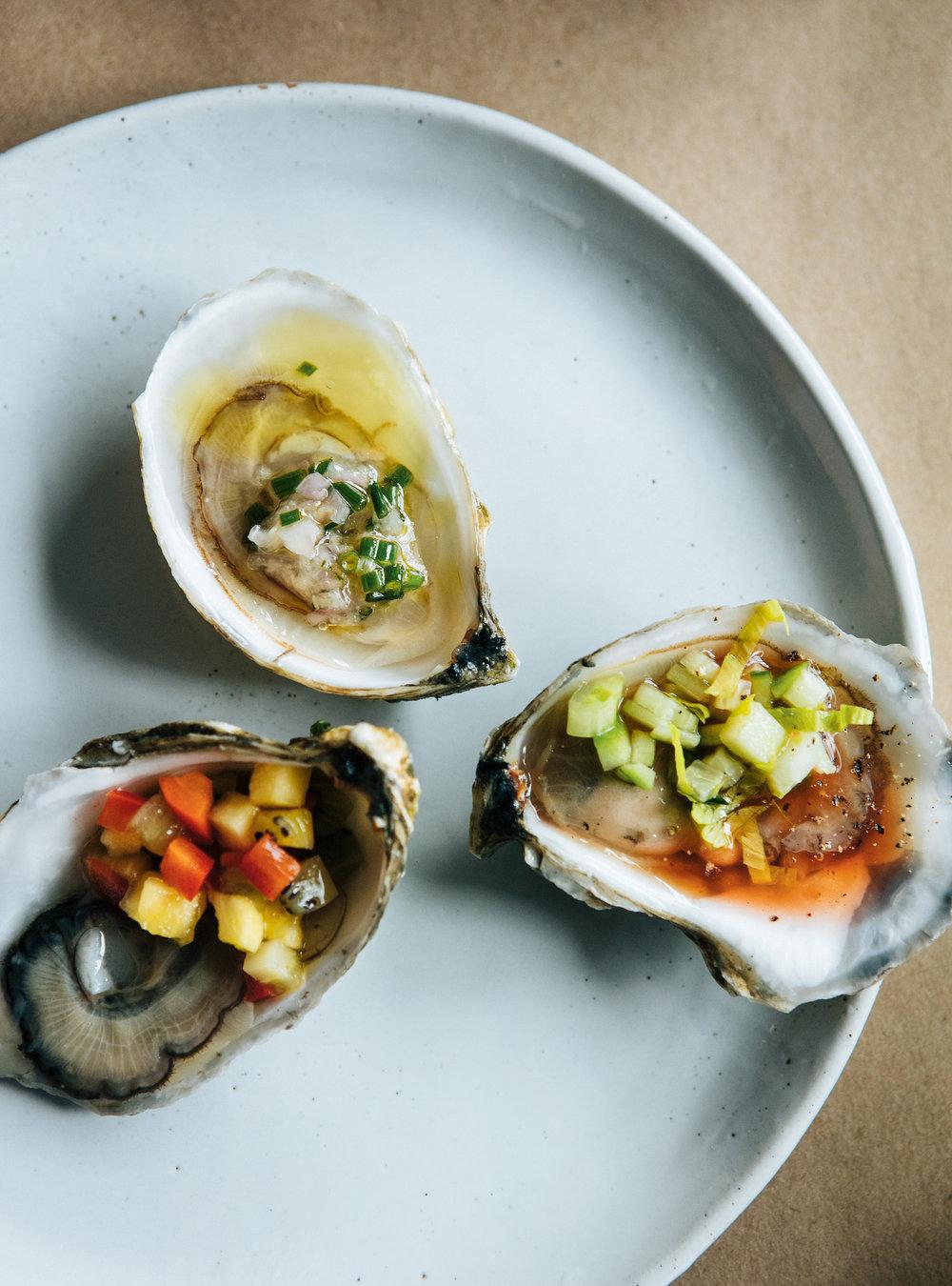 Huîtres et salsa exotique à l'ananas et au kiwi | ricardo