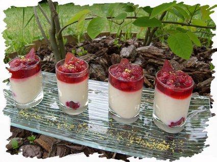 Recette de verrines coco et fruits rouges