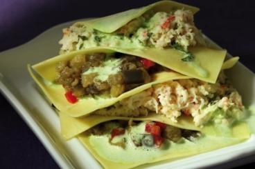 Recette de lasagne de crabe à l'aubergine et à l'estragon rapide