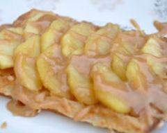 Recette gaufres au cidre, pommes caramélisées et sauce confiture ...