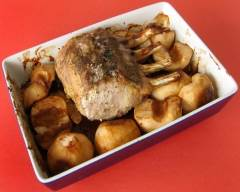 Recette carré de porc rôti aux pommes