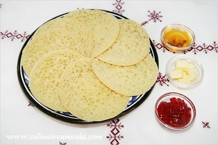 Recette de crêpes aux mille trous marocaines