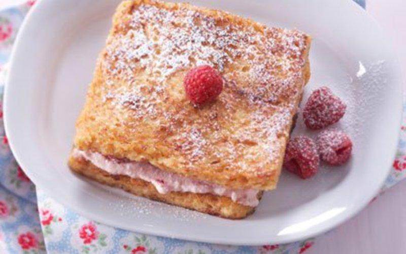 Recette pain perdu à la crème de framboise pas chère et facile ...