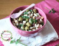 Recette de salade de haricots blancs, jambon cru, olives vertes et ...