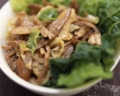 Recette salade de canard au chou vert