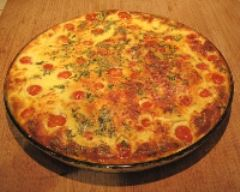Recette clafoutis de tomates cerise au fromage