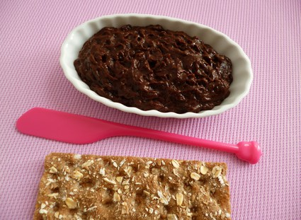 Recette de pâte à tartiner diététique pomme pruneau chocolat