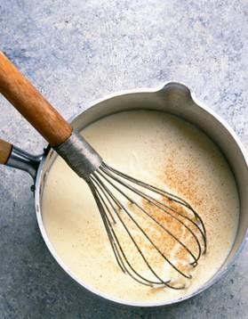 Béchamel express sans beurre