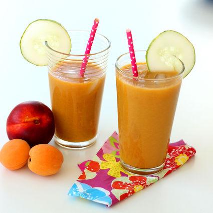 Recette de jus nectarine, abricot et concombre