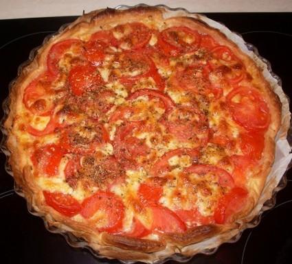 Recette de tarte à la tomate et au fromage