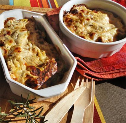 Recette aubergine et tomates en gratin au four halogène