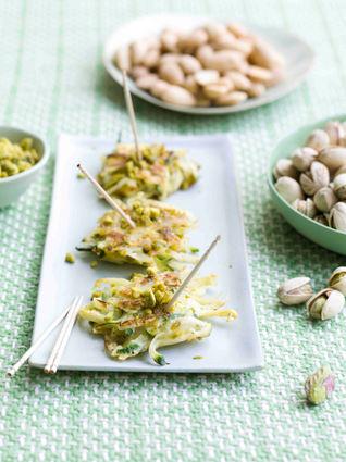 Recette de galettes de courgettes à la pistache