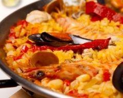 Recette paëlla au poulet, chorizo et fruits de mer facile