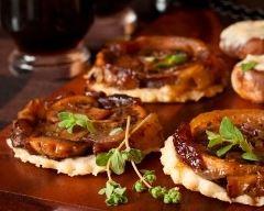 Recette mini tartes tatin aux champignons