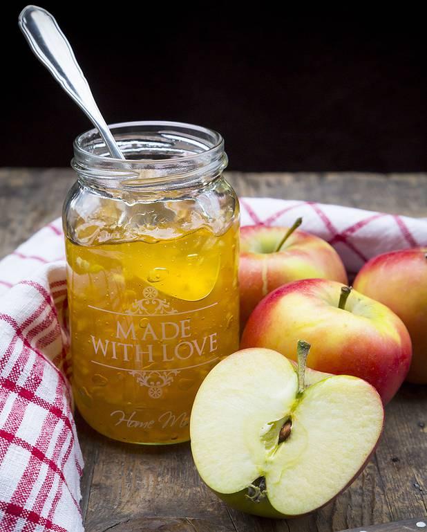 Confiture de pommes aux deux citrons et au miel pour ...