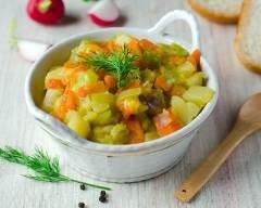 Recette fondue de poireaux, carottes et pommes de terre