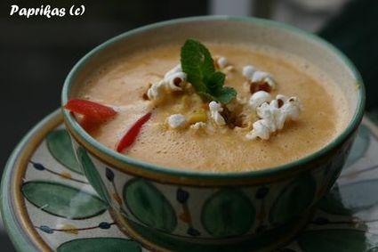 Recette de soupe de maïs pimentée