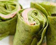Recette wraps verts au jambon et à la laitue