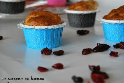 Recette de muffins aux canneberges et à la crème d'amandes