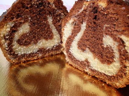Recette de cake marbré très moelleux sans levure