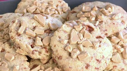 Recette de cookies nougatine et pépites de chocolat blond